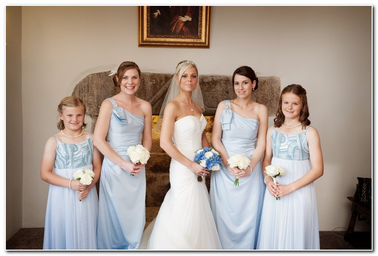 Bride and brides maids