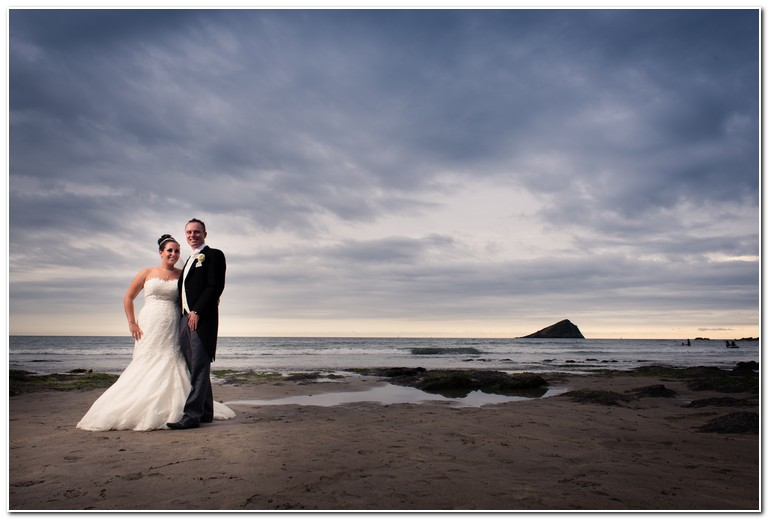 wedding couple on the beach